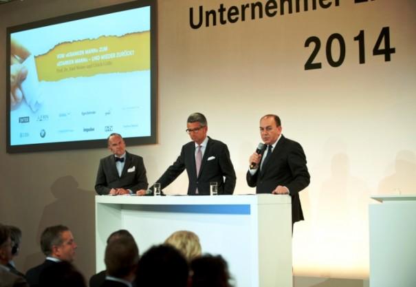 Prof. Dr. Klaus Schweinsberg, Ulrich Grillo und Prof. Dr. Axel Weber