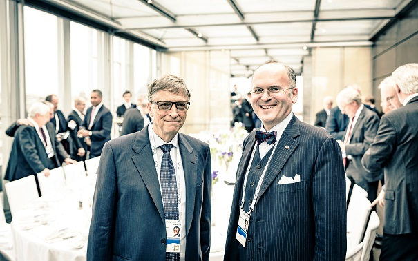 MSC Klaus Schweinsberg and Bill Gates
